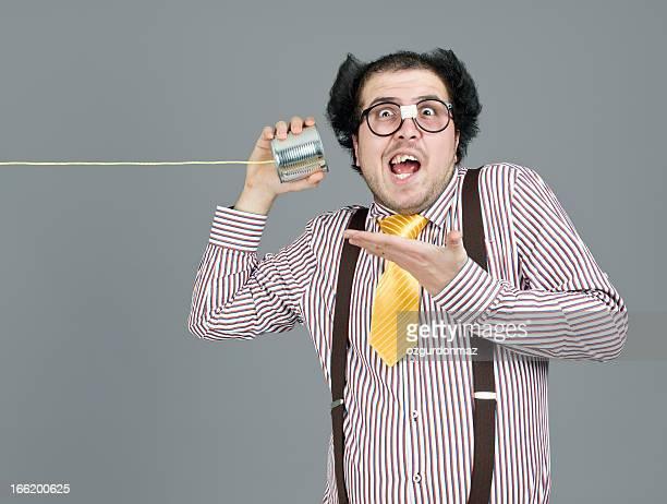 オタクスチューデントを聴きながら、糸電話