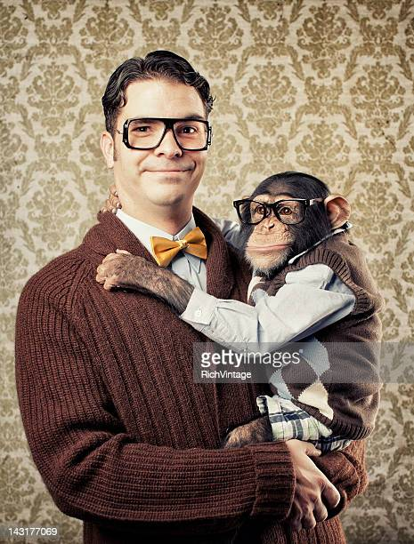 Nerd with a Chimp