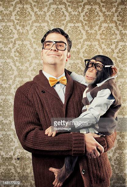 Grand dadais avec Chimp