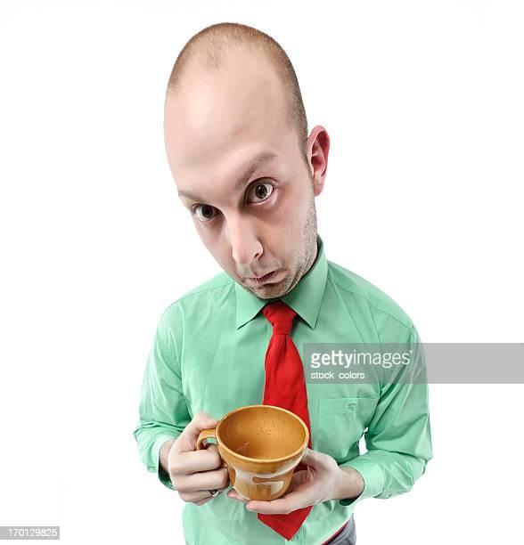 nerd con taza