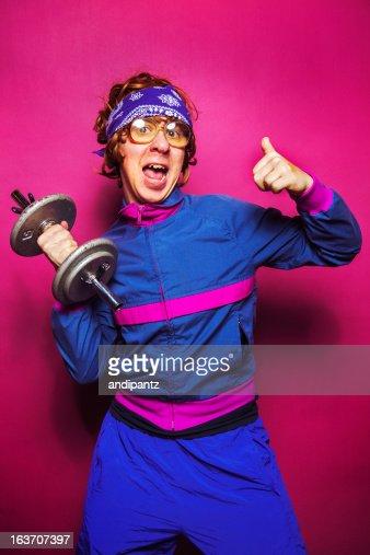 Nerdy workout dude
