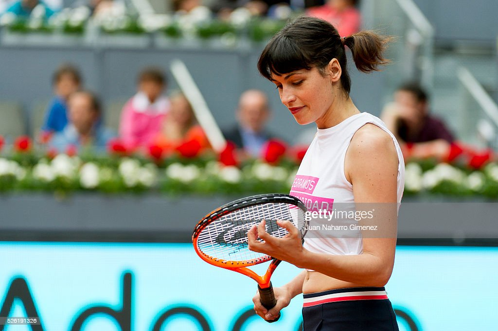 Nerea Barros attends Charity day tournament during Mutua Madrid Open at Caja magica on April 29, 2016 in Madrid, .