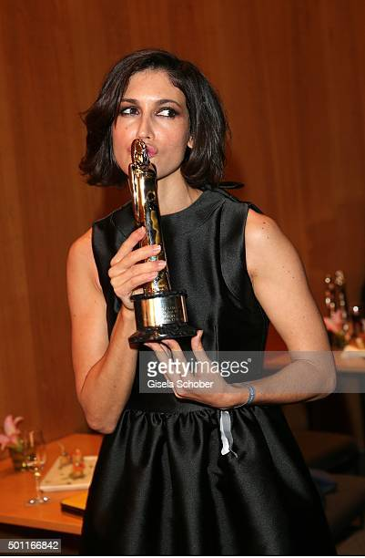 Nerea Barros with award during the European Film Awards 2015 at Haus Der Berliner Festspiele on December 12 2015 in Berlin Germany