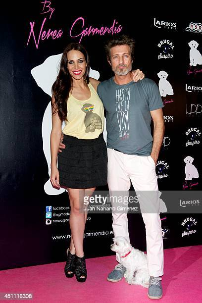 Nerea Garmendia and Jesus Olmedo attend the 'By Nerea' new fashion collection at the Larios Cafe on June 23 2014 in Madrid Spain