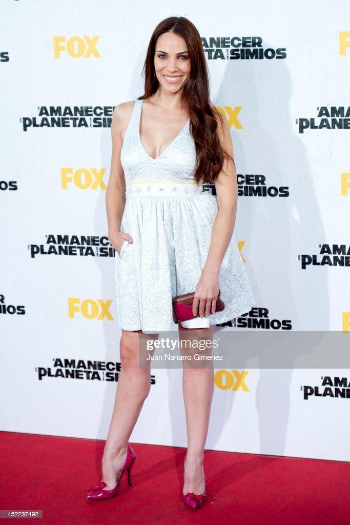 Nerea Garmendia attends 'El Amanecer Del Planeta De Los Simios' premiere at Capitol Cinema on July 16 2014 in Madrid Spain