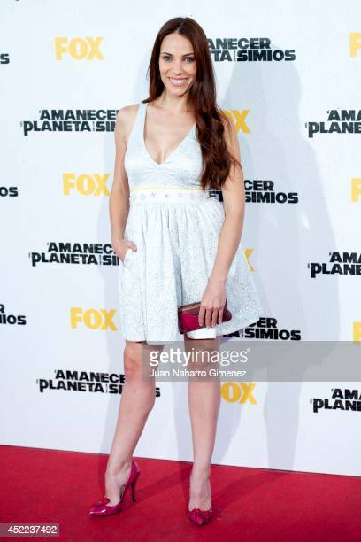 Nerea Garmendia attends 'El Amanecer Del Planeta De Los Simios' premiere at Capitol Cinema on July 16 2014 in Madrid Spain