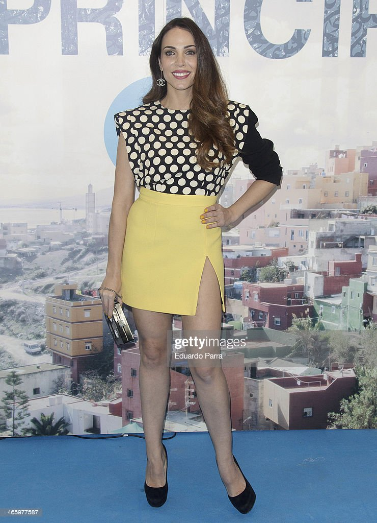 Nerea Garmendia attends 'El principe' premiere at Callao cinema on January 30 2014 in Madrid Spain