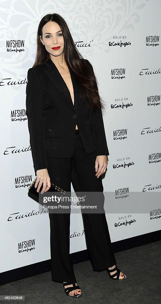 Nerea Garmendia attends Emidio Tucci fashion show photocall at Price Circus on January 27 2015 in Madrid Spain
