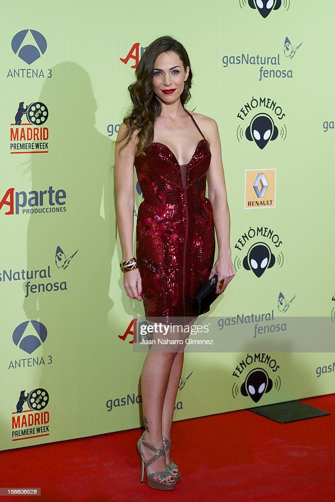 Nerea Garmendia attends 'Fenomenos' Premiere at Callao Cinema on November 21, 2012 in Madrid, Spain.