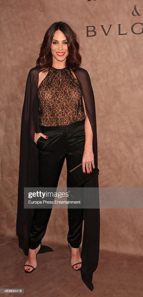 Nerea Garmendia attends Harper's Bazaar party at USA Embassy on February 18 2015 in Madrid Spain