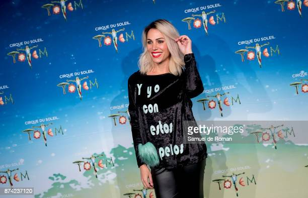 Nerea Garmendia during 'Cirque Du Soleil' Premiere in Madrid on November 14 2017 in Madrid Spain