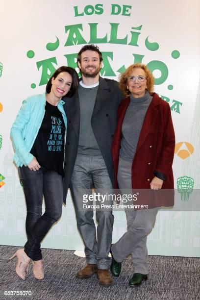 Nerea Garmendia Gorka Otxoa and Elena Irureta attend the presentation of the third season of 'Alli Abajo' on March 15 2017 in San Sebastian Spain