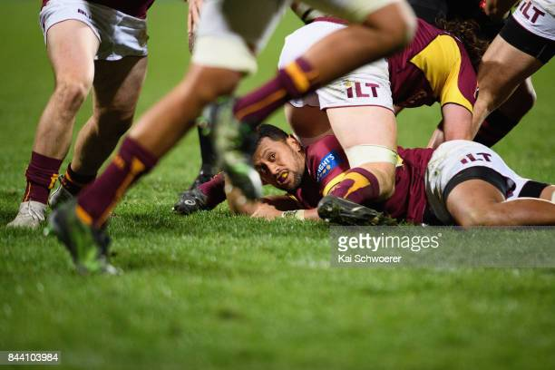 Neria Fomai of Southland looks on during the Ranfurly Shield round four Mitre 10 Cup match between Canterbury and Southland on September 8 2017 in...