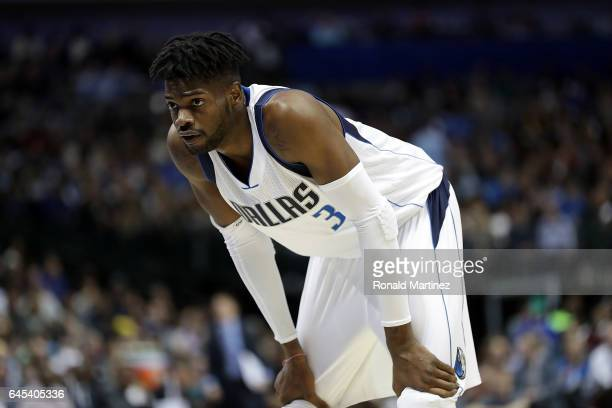 Nerlens Noel of the Dallas Mavericks during play in the first quarter at American Airlines Center on February 25 2017 in Dallas Texas NOTE TO USER...