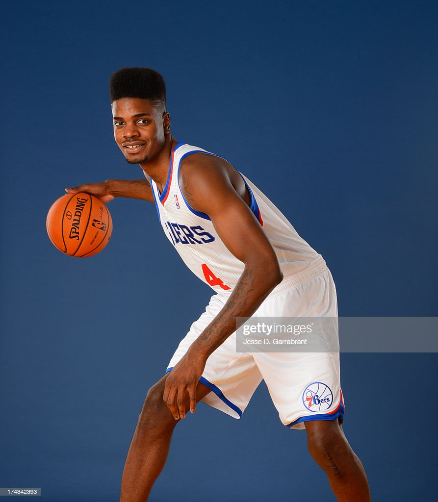 Nerlens Noel of the Philadelphia 76ers poses for a photo at the Philadelphia College of Osteopathic Medicine on July 23, 2013 in Philadelphia, Pennsylvania.