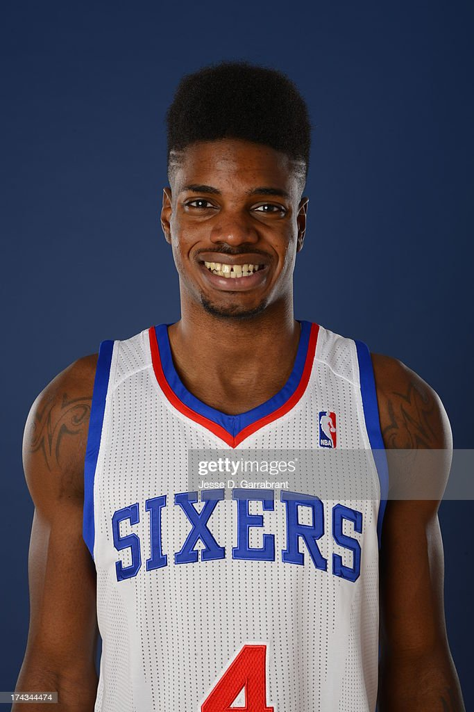 <a gi-track='captionPersonalityLinkClicked' href=/galleries/search?phrase=Nerlens+Noel&family=editorial&specificpeople=7880842 ng-click='$event.stopPropagation()'>Nerlens Noel</a> of the Philadelphia 76ers poses for a photo at the Philadelphia College of Osteopathic Medicine on July 23, 2013 in Philadelphia, Pennsylvania.