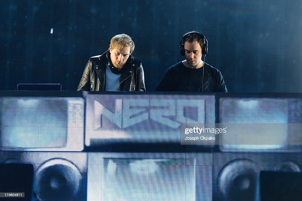Nero performs at Day 2 of Global Gathering at Long Marston Airfield on July 27, 2013 in Stratford-upon-Avon, England.