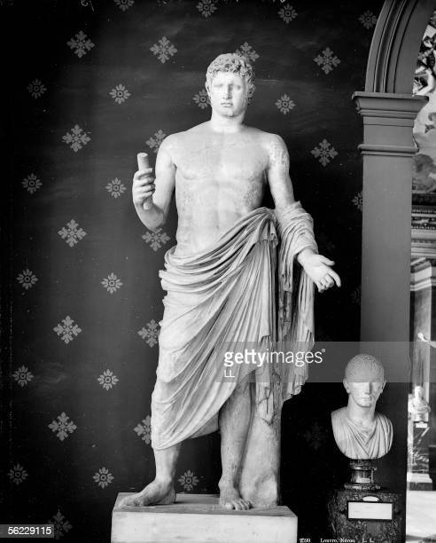 Nero Roman emperor Antique statue Paris musee du Louvre LL2599