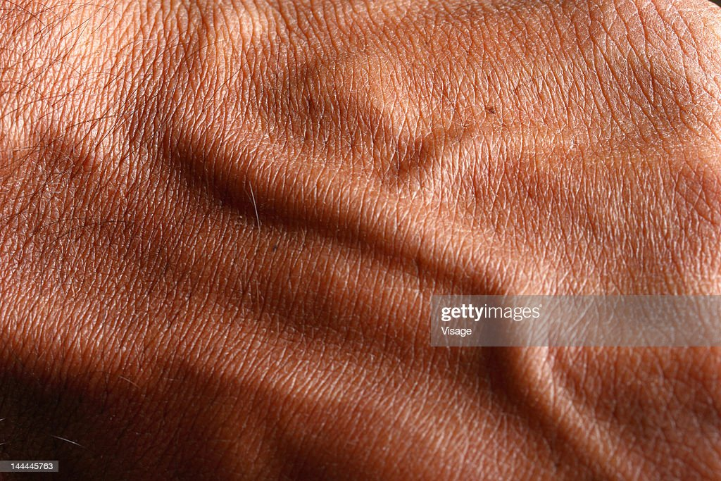Nerves developed on the arm of a person