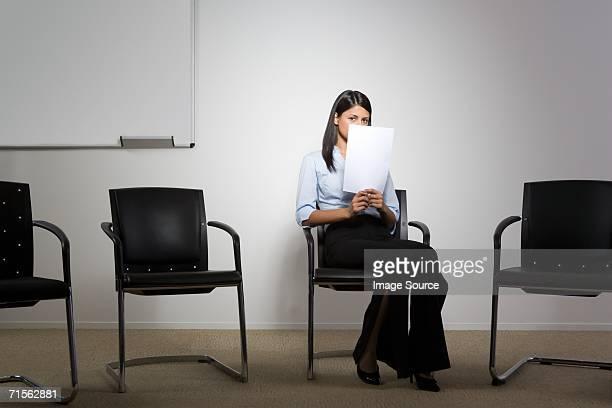 Nervous office worker