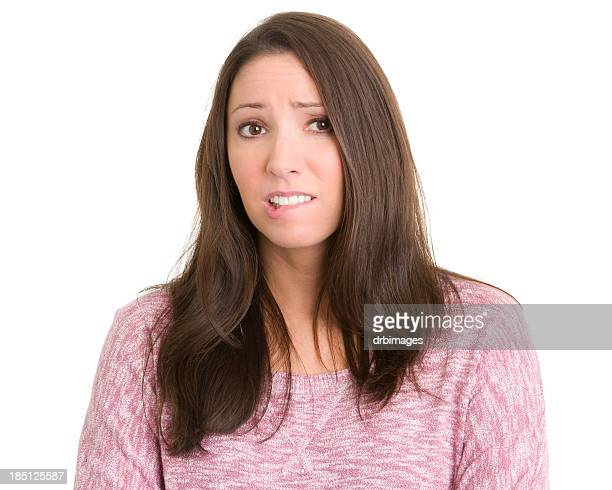 Nervous Young Woman