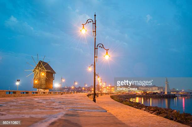 Nesebar old town at Blue Hour