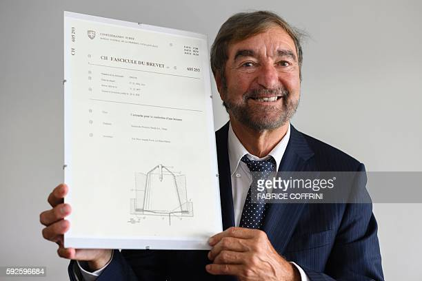 Nespresso inventor Eric Favre poses with the first capsule patent on July 27 2016 in SaintBarthelemy western Switzerland Had Eric Favre not married...