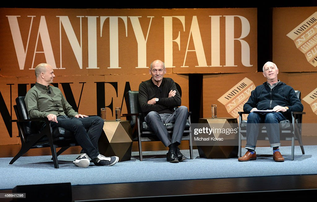 Nest CEO and Founder <a gi-track='captionPersonalityLinkClicked' href=/galleries/search?phrase=Tony+Fadell&family=editorial&specificpeople=8578729 ng-click='$event.stopPropagation()'>Tony Fadell</a>, OMA Founding Partner <a gi-track='captionPersonalityLinkClicked' href=/galleries/search?phrase=Rem+Koolhaas&family=editorial&specificpeople=808645 ng-click='$event.stopPropagation()'>Rem Koolhaas</a> and Vanity Fair Contributing Editor and Moderator Paul Goldberger speak onstage during 'Design in the Digital Age' at the Vanity Fair New Establishment Summit at Yerba Buena Center for the Arts on October 9, 2014 in San Francisco, California.