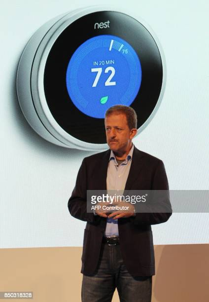 Nest chief executive Marwan Fawaz discusses the company's path from its first learning thermostat to a new array of homesecurity devices at a media...