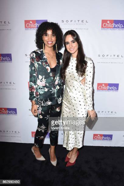 Nesta Cooper and Alicia Sanz attend Childhelp Hollywood Heroes on October 18 2017 in Beverly Hills California