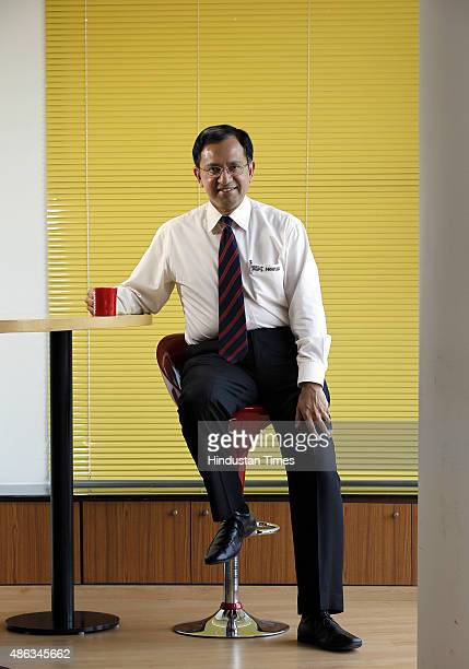 Nestle Managing Director Suresh Narayanan during an interview with Hindustan Times at the Nestle headquarters on September 3 2015 in Gurgoan India...