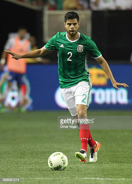 Nestor Araujo of Mexico controls the ball during the International Friendly between Mexico and Paraguay at Georgia Dome on May 28 2016 in Atlanta...