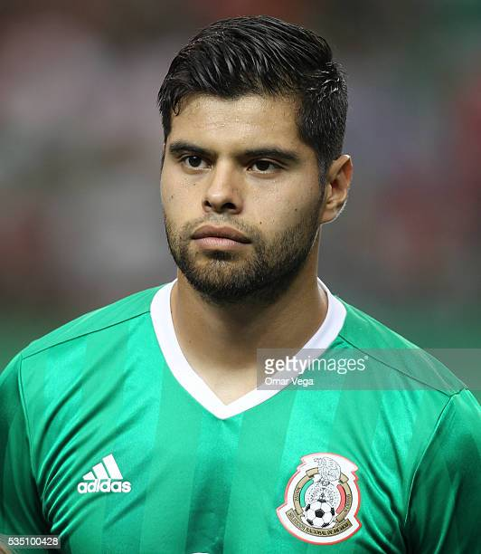 Nestor Araujo of Mexico looks on during the International Friendly between Mexico and Paraguay at Georgia Dome on May 28 2016 in Atlanta Georgia