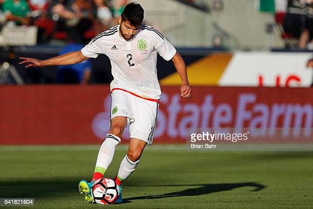 Nestor Araujo of Mexico plays the ball during a Quarterfinal match between Mexico and Chile at Levi's Stadium as part of Copa America Centenario US...