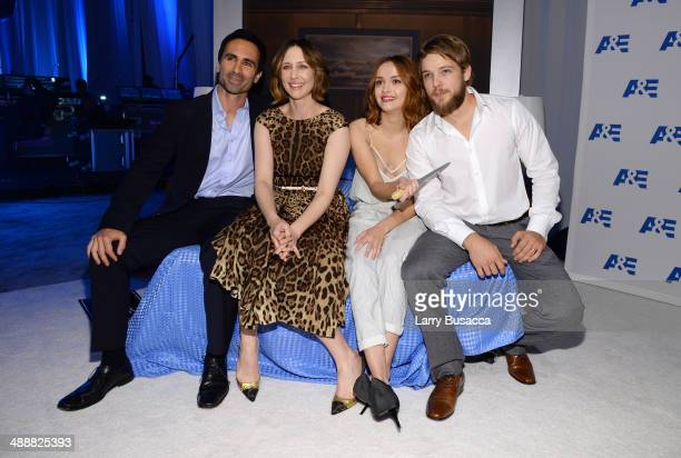 Nestor Carbonell Vera Farmiga Olivia Cooke and Max Thieriot attend the 2014 AE Networks Upfront on May 8 2014 in New York City