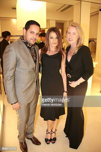Nestor Ochoa Ana Gobantes and Elana Lagutenko attend Valentino and Holly Robinson Peete Rodney Peete host cocktail shopping event with wives of the...