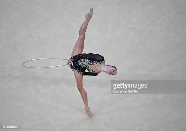 Neta Rivkin of Israel competes during the Rhythmic Gymnastics Individual AllAround on August 19 2016 at Rio Olympic Arena in Rio de Janeiro Brazil
