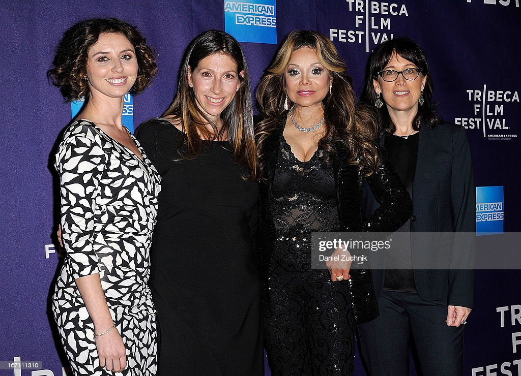 Neta Zwebner-Zaibert, Hilla Medalia, La Toya Jackson and Diane Nabatoff attend the screening of 'Dancing in Jaffa' during the 2013 Tribeca Film Festival at AMC Loews Village 7 on April 20, 2013 in New York City.