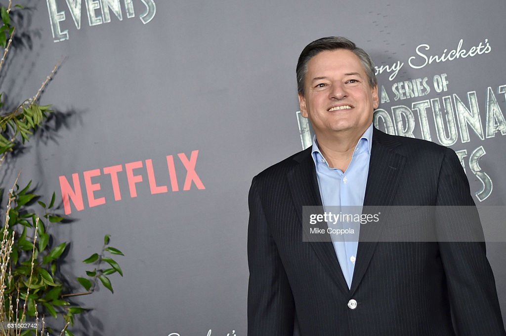 Netflix CCO Ted Sarandos attends the 'Lemony Snicket's A Series Of Unfortunate Events' Screening at AMC Lincoln Square Theater on January 11, 2017 in New York City.