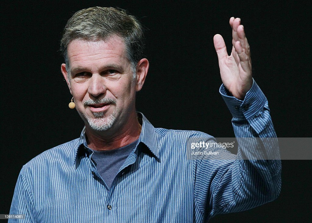 Netflix CEO Reed Hastings makes an appearance during a keynote address by Facebook CEO Mark Zuckerberg at the Facebook f8 conference on September 22, 2011 in San Francisco, California. Facebook CEO Mark Zuckerberg kicked off the 2011 Facebook f8 conference with a keynote address