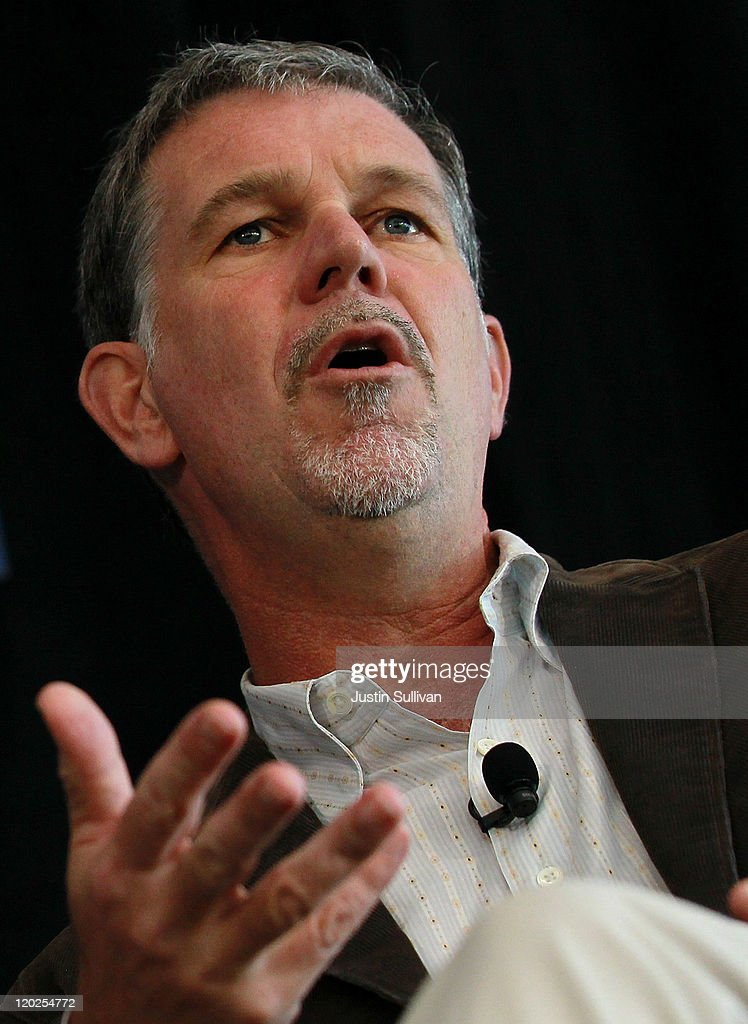 Netflix CEO Reed Hastings speaks during the President's Council on Jobs and Competitiveness High Growth Business and Entrepreneurship Listening and Action Session at the VMware headquarters on August 2, 2011 in Palo Alto, California. Jobs Council members, administration officials and Silicon Valley leaders spoke with entrepreneurs about how public and private sectors can partner to create jobs through innovation.