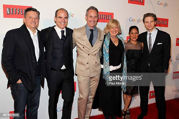 Netflix Chief Content Officer Ted Sarandos actor Michael Kelly actor Michael Gill actress Jayne Atkinson actress Sakina Jaffrey and actor Sebastian...