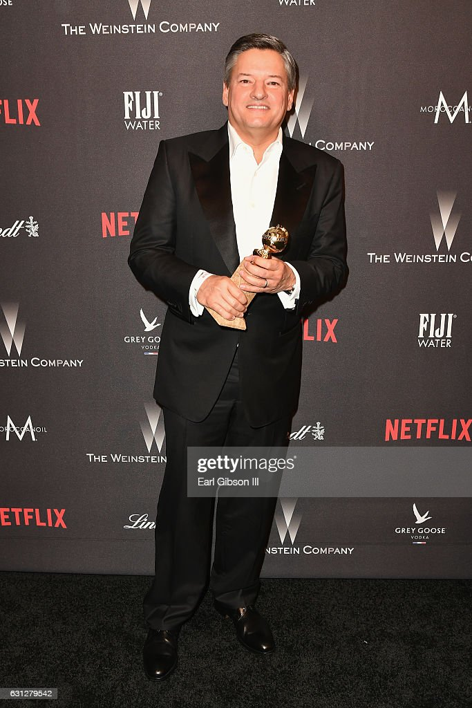 Netflix Chief Content Officer Ted Sarandos attends The Weinstein Company and Netflix Golden Globe Party, presented with FIJI Water, Grey Goose Vodka, Lindt Chocolate, and Moroccanoil at The Beverly Hilton Hotel on January 8, 2017 in Beverly Hills, California.