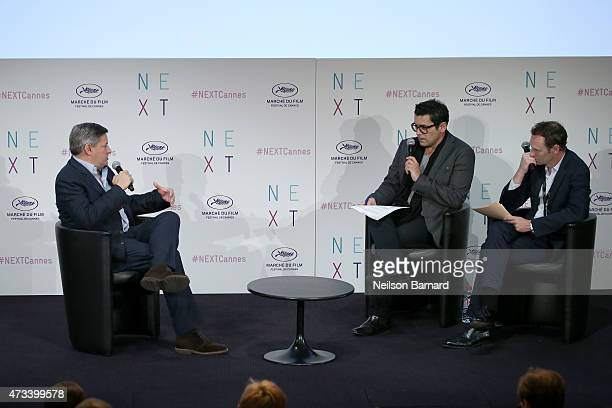 Netflix Chief Content Officer Ted Sarandos gives a talk at Marche Du Film during the 68th annual Cannes Film Festival on May 15 2015 in Cannes France
