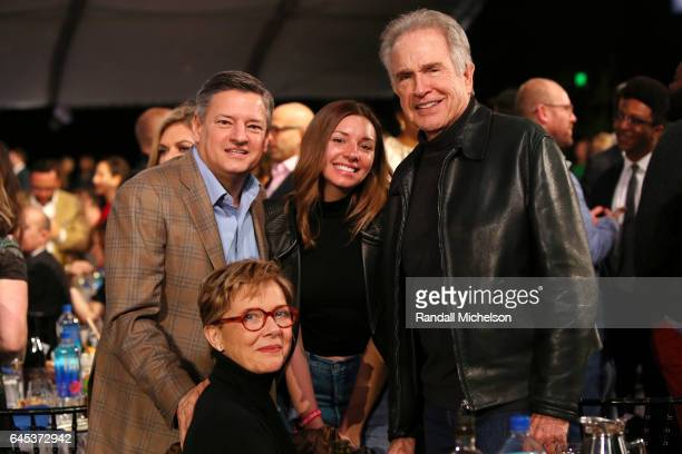 Netflix Chief Content Officer Ted Sarandos Sarah Sarando actor Warren Beatty and Annette Bening during the 2017 Film Independent Spirit Awards at the...