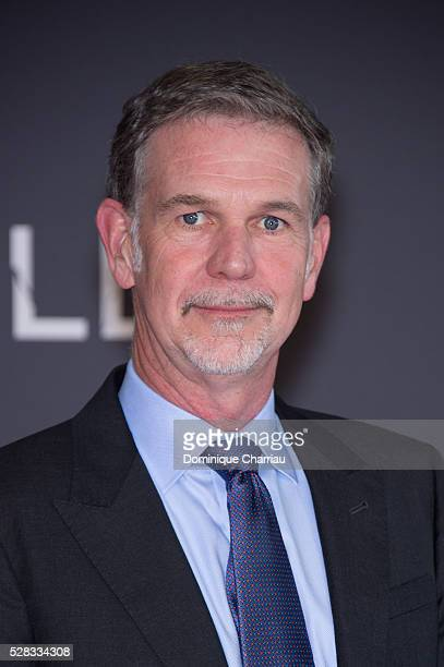 Netflix cofounder and CEO Reed Hastings attends the 'Marseille' Netflix TV Serie Wold Premiere At Palais Du Pharo In Marseille on May 4 2016 in...