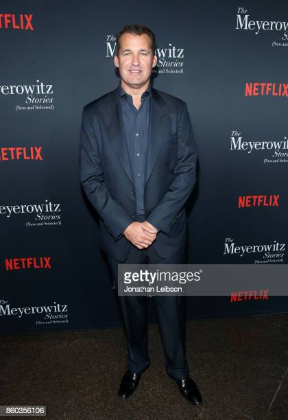 Netflix Original Films Vice President Scott Stuber at a special screening of The Meyerowitz Stories at DGA Theater on October 11 2017 in Los Angeles...