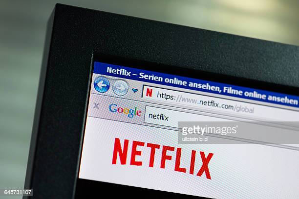 NetflixLogo auf Computermonitor