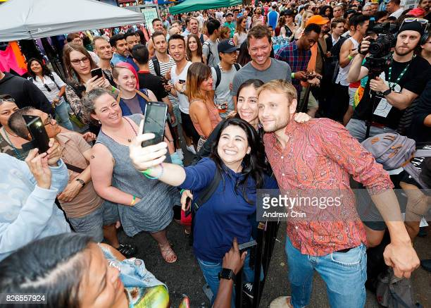 Netflix's Sense8 cast Max Riemelt attends Davie Street Block Party on August 4 2017 in Vancouver Canada