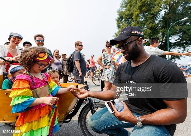 Netflix's Sense8 cast member Toby Onwumere attends Vancouver Pride Parade on August 6 2017 in Vancouver Canada